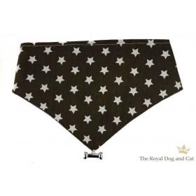 Hundehalstuch Sternchen dunkelbraun