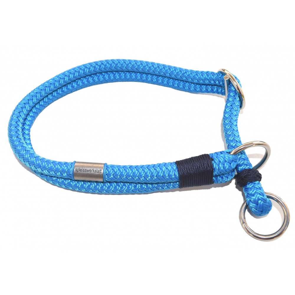 Handgespleisstes Tau-Halsband blitzblau-marine