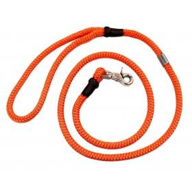 Handgespleisste Tau-Leine mit Handschlaufe orange-schoko