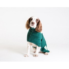 Hunde-Bademantel von Ruff And Tumble in flaschengrün