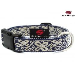 Hundehalsband HAPPY blue-white von SUCHtrupp