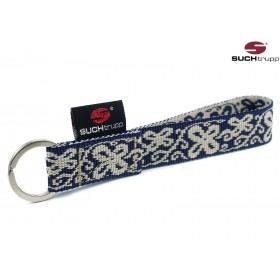 Schlüsselanhänger HAPPY blue-white von SUCHtrupp