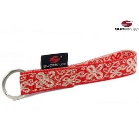 Schlüsselanhänger HAPPY red-white von SUCHtrupp
