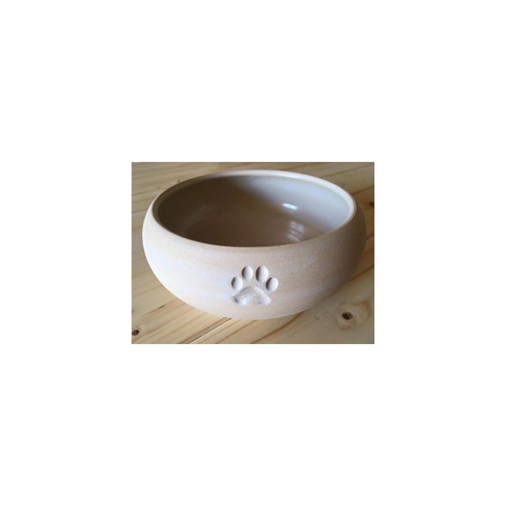 Keramiknapf mit Pfotenabdruck