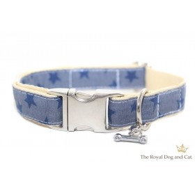Halsband Sternchen jeansblau