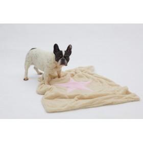 Hunde-Decke Plaid Pooch creme-rosa