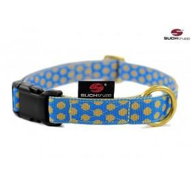 Hundehalsband Dots royalblue-beige von SUCHtrupp
