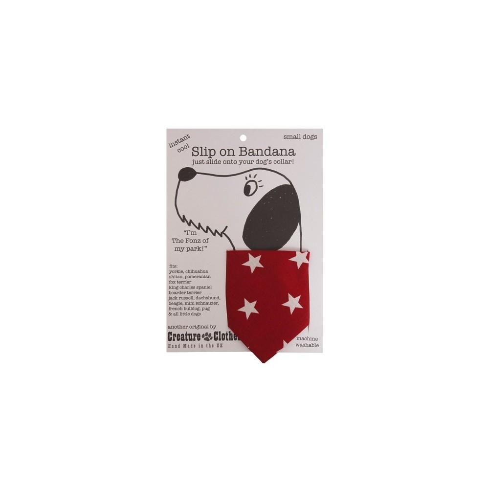 Hundehalstuch Red Stars von Creature Clothes