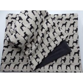 Hunde-Decke Plaid Black Dogs