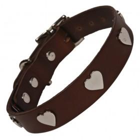 Leder-Halsband Hearts von Creature Clothes