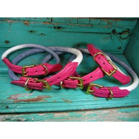 Edles Tau-Halsband grau/pink