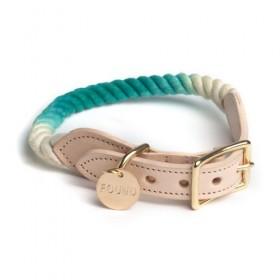 Tau-Halsband in türkis von FOUND MY ANIMAL