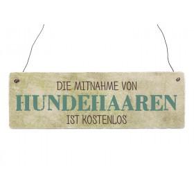 "Holzschild ""Hundehaare"""