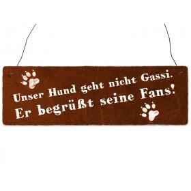 """Holzschild """"Der Hund und..."""