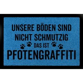 """Fussmatte """"Pfotengraffiti"""",..."""