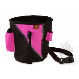 Leckerlitasche gross in schwarz/pink von firedog