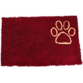 Hundematte Rot mit Pfoten M...