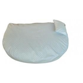 Bio-Bett wasserabweisend hellblau von Dog Filou's