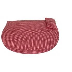 Bio-Bett wasserabweisend Dots pink von Dog Filou's
