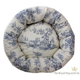 Hundebett rund Chateau blau